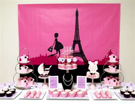 """French  Parisian  Baby Shower """"pink Paris Themed Baby"""