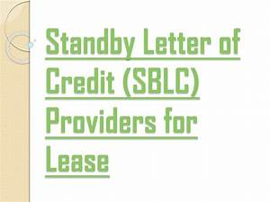 Ppt the hanson group of companies sblc providers for for Letter of credit service providers