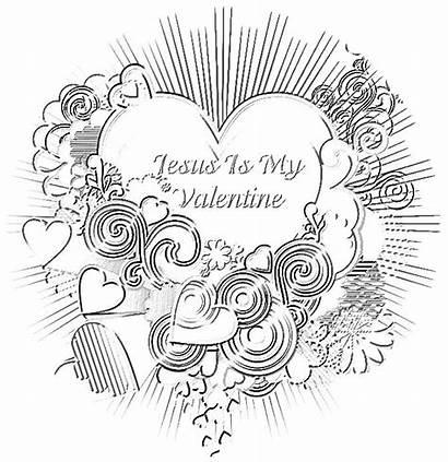 Valentine Jesus Christian Box Coloring Treasure