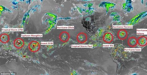 storms tomorrow named globe across