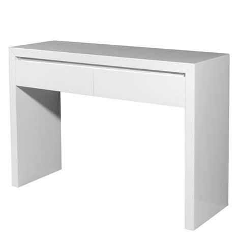 console laquee blanche avec tiroir consoles arte leno