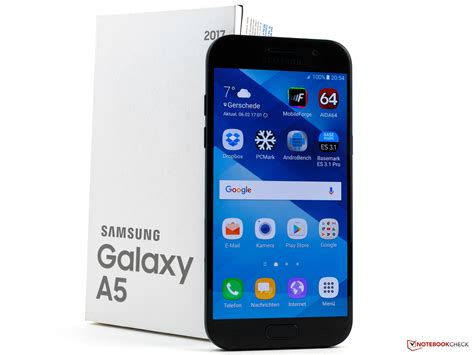 samsung a5 2017 samsung galaxy a5 2017 smartphone review notebookcheck