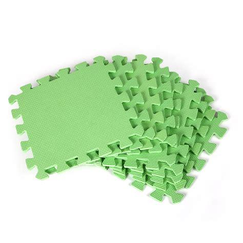 foam puzzle mat 3 color green 9pcs eco soft foam interlocking foam floor