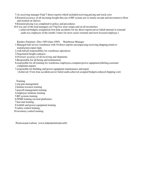 Distribution Resume by David Roach Distribution Manager Resume