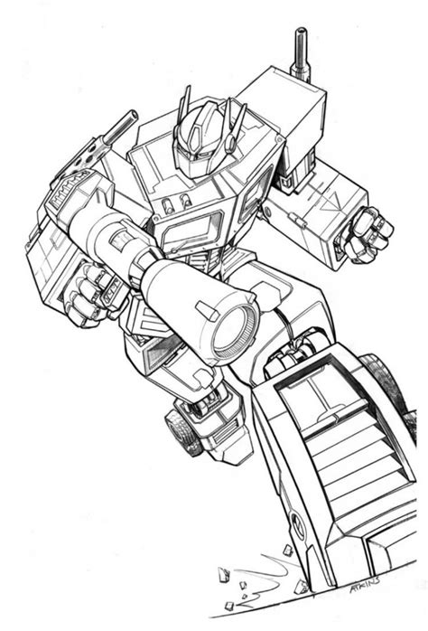 Coloring Transformer by Free Printable Transformers Coloring Pages For