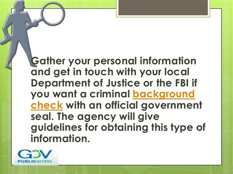 What Information Does An Fbi Background Check Include How To Perform A Self Background Check