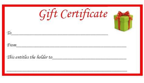 christmas printable gift certificates  diary