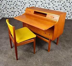 Bureau Secretaire Vintage : bureau secr taire danois en teck de arne wahl iversen ~ Teatrodelosmanantiales.com Idées de Décoration