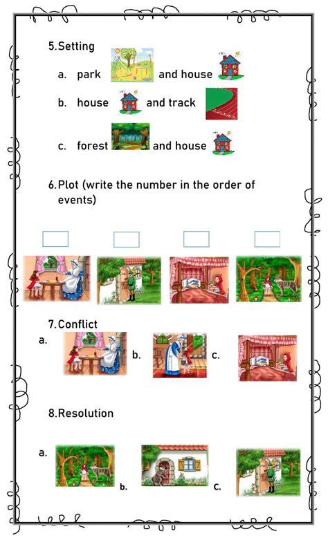 Story Elements interactive worksheet