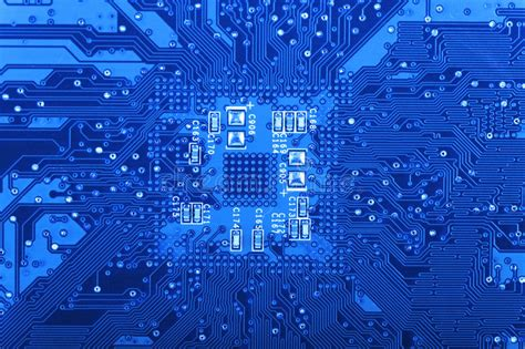 Computer Circuit Board Stock Image Close