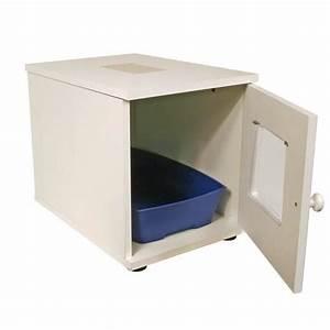 Plan De Toilette Bois : maison de toilette en bois pour chat bac liti re ~ Dailycaller-alerts.com Idées de Décoration