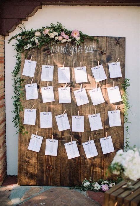 trending wedding seating chart decoration ideas   day