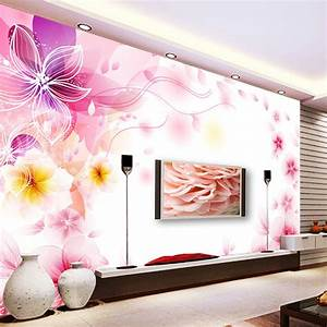 Pink Fantasy 3D stereoscopic large mural wallpaper ...
