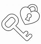 Key Heart Coloring Keyboard Piano Lock Outline Drawing Template Getcolorings Colouring Printable Ke Templates Getdrawings sketch template