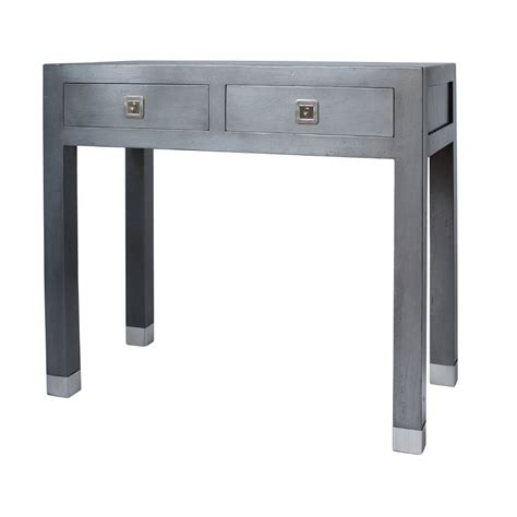 grey console table buy qing dao graphite grey small console table grey 1485