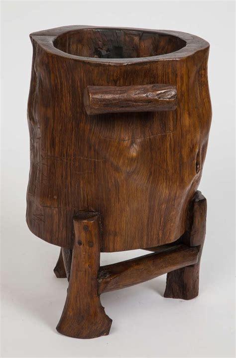 wood trunk cane  umbrella stand  stdibs