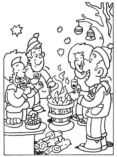 Kleurplaat Vuur Ponyta by Kleurplaat Gezellig Kerstfeest Bij Het Vuur Kleurplaten Nl