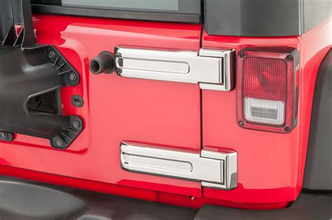kentrol 30017 tailgate hinge overlays for 07 18 jeep