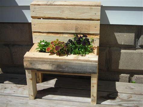 pallet wood garden bench planter 101 pallets