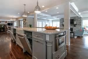 kitchen islands with dishwasher kitchen island with dishwashers transitional kitchen benjamin willow creek