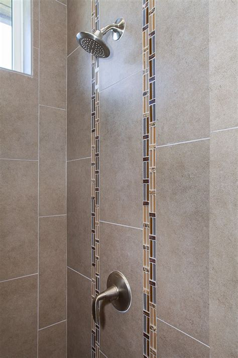bathroom tile detail vertical accents   main shower