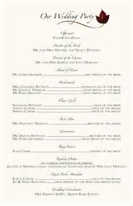 wedding registries online sle wording for wedding programs wedding program sl