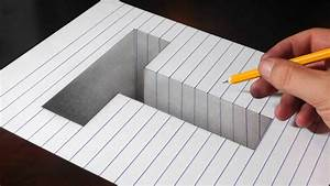 Drawing A T Hole In Line Paper