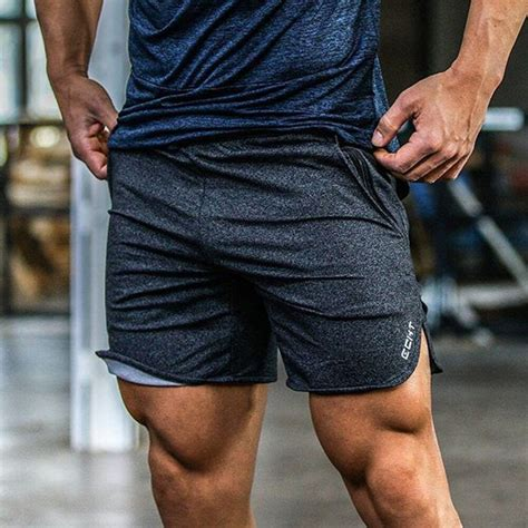 Men's Workout Fitness Shorts With Leg Opening | Body