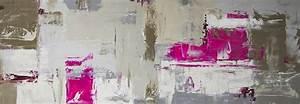 Tableau Rose Et Gris : tableau panoramique gris rose kaki toiles panoramiques ~ Teatrodelosmanantiales.com Idées de Décoration