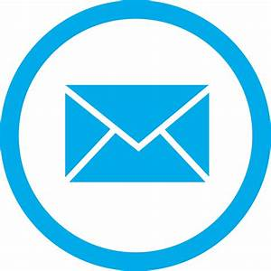 Blue Email Box Circle PNG Transparent Icon - Free ...