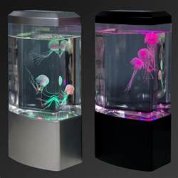 jellyfish tank mood light aquarium style relaxing led colour changing desk l 16 99
