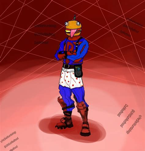 skin concept durr burger themed skin fortnitebr
