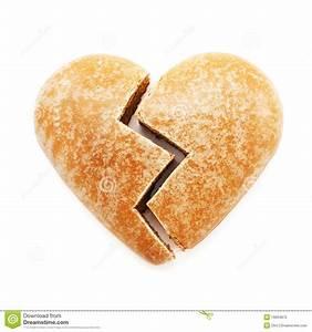 Broken Gingerbread Heart Royalty Free Stock Photo - Image ...