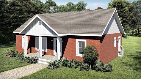 House Plan 77406 Ranch Style with 1311 Sq Ft 3 Bed 2 Bath