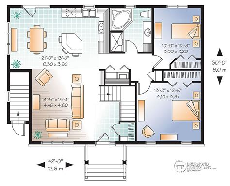 house plans with basement apartment drummond plans