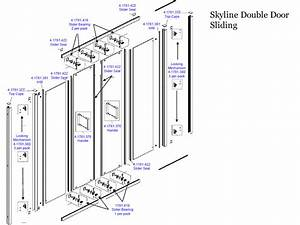 Daryl Skyline Double Sliding Door Shower Spares And Parts