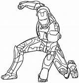 Coloring Iron Printable Popular Ironman sketch template