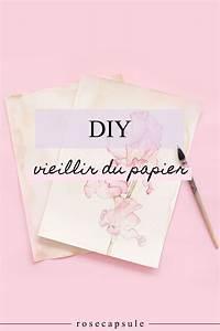 Comment Faire Une Rose En Papier Facilement : diy comment vieillir du papier diy printables ~ Nature-et-papiers.com Idées de Décoration