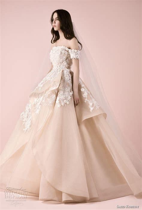 Saiid Kobeisy 2018 Wedding Dresses Blush Color Ball