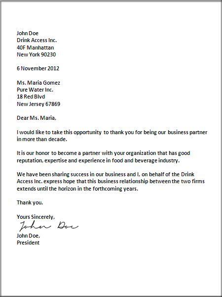 business letter format letter business letter