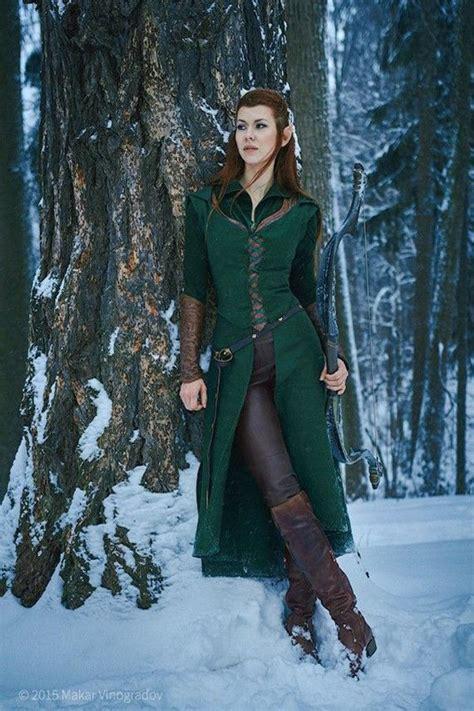 le hobbit  sublime cosplay de tauriel robe elfe