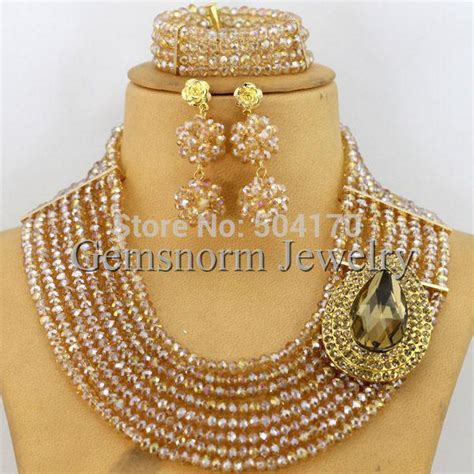 2018 2014 fashion new chagne gold bridal jewelry dubai