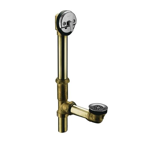 swiftflo brass adjustable trip lever drain  polished chrome   cp  home depot