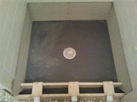 Bathroom Shower Floor Repair Shower Floor Repair Pan Liner Curb And Finish Coat