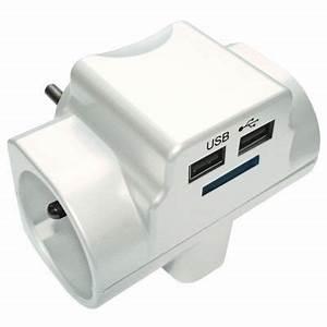 Multiprise Avec Usb : fiche multiprise 2 usb blanc glossy diall castorama ~ Melissatoandfro.com Idées de Décoration