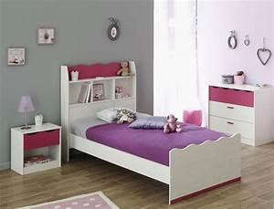 Kinderzimmer Lilan 2 Wei Pink Kinderbett Nachttisch
