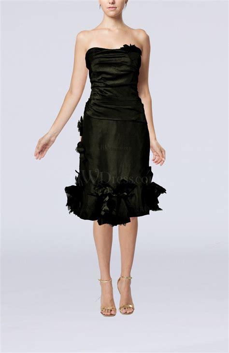 black elegant sheath sweetheart zipper taffeta cocktail