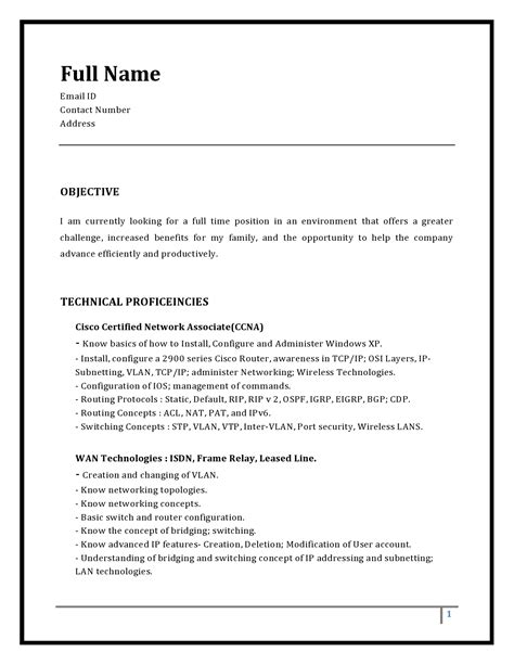 A Resume by Resume Templates Routing Switching Tigers