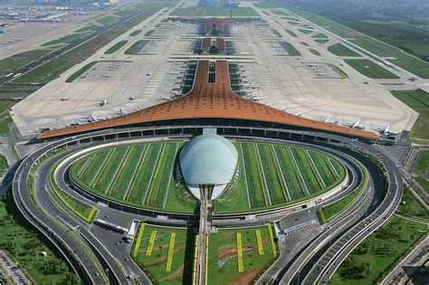 Neuer Flughafen Peking by Beijing Capital International Airport Foster Partners