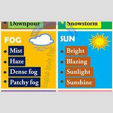Weather Vocabulary Esl  Driverlayer Search Engine